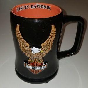 HARLEY DAVIDSON coffee Mug Cup 3-D Eagle Embossed